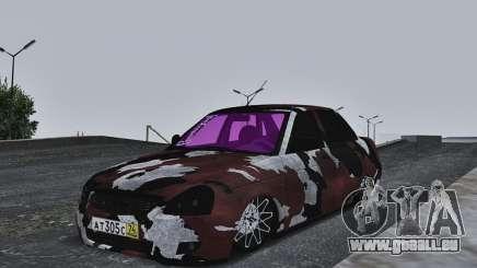 Lada Priora Camouflage pour GTA San Andreas