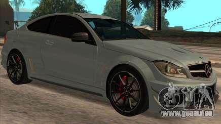 Mercedes-Benz C63 AMG Black-series für GTA San Andreas