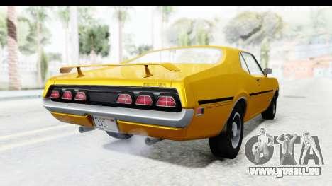Mercury Cyclone Spoiler 1970 IVF pour GTA San Andreas sur la vue arrière gauche