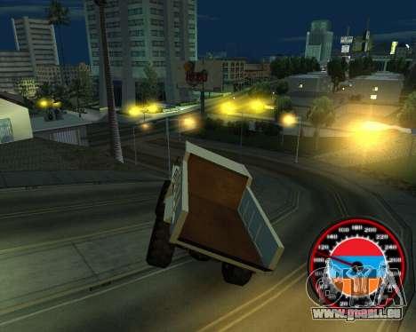 Der Tacho im Stil der Armenischen Flagge für GTA San Andreas zweiten Screenshot