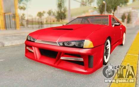 Elegy GT v1 pour GTA San Andreas sur la vue arrière gauche