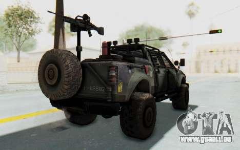 Toyota Hilux Technical pour GTA San Andreas laissé vue