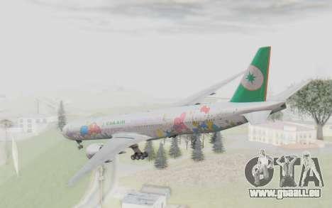 Boeing 777-300ER Eva Air v2 für GTA San Andreas rechten Ansicht