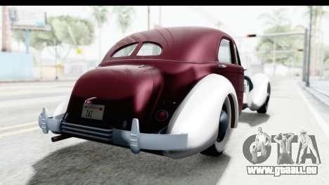 Cord 812 Charged Beverly Low Chrome für GTA San Andreas zurück linke Ansicht