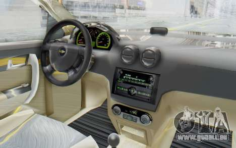 Chevrolet Aveo 2007 pour GTA San Andreas vue intérieure