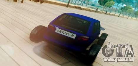 Daewoo Matiz R20 Vossen für GTA San Andreas zurück linke Ansicht