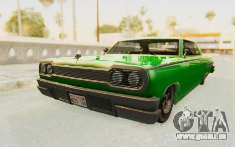 GTA 5 Declasse Voodoo SA Lights pour GTA San Andreas vue de droite