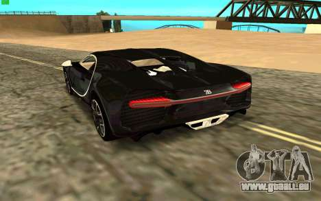 Bugatti Chiron für GTA San Andreas zurück linke Ansicht