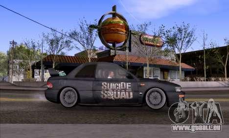 Subaru impreza 22B (SUICIDE SQUAD) pour GTA San Andreas laissé vue