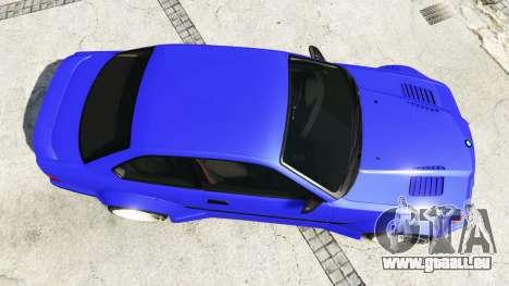 GTA 5 BMW M3 (E36) Street Custom [blue dials] v1.1 vue arrière