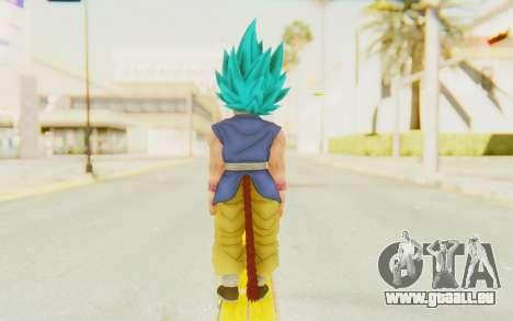 Dragon Ball Xenoverse Goku Kid GT SSGSS für GTA San Andreas dritten Screenshot