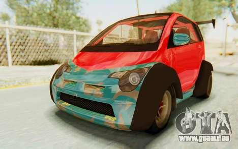 GTA 5 Benefactor Panto Custom für GTA San Andreas Innenansicht