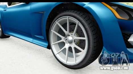 GTA 5 Lampadati Furore GT SA Lights pour GTA San Andreas vue arrière