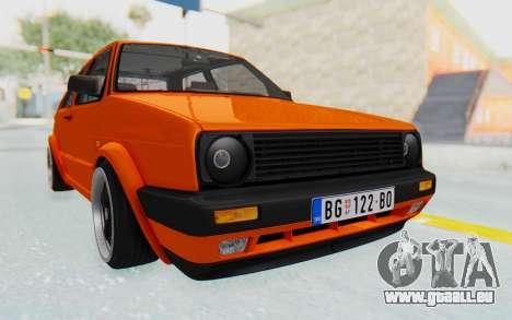 Volkswagen Golf 2 GTI 1.6V für GTA San Andreas rechten Ansicht