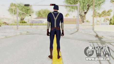 Trevor in Captain America Suit für GTA San Andreas dritten Screenshot