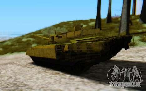 T-14 Armata Green pour GTA San Andreas laissé vue