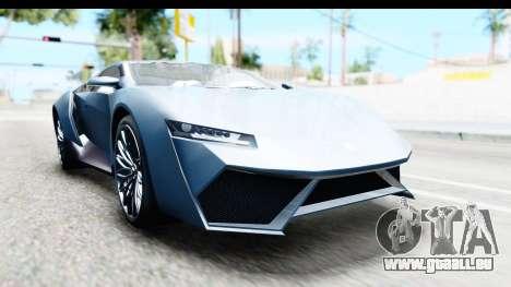GTA 5 Pegassi Reaper v2 pour GTA San Andreas sur la vue arrière gauche