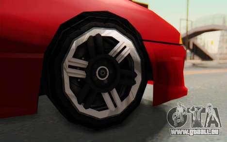 Elegy GT v1 pour GTA San Andreas vue intérieure
