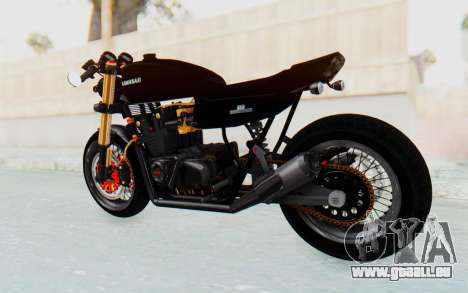 Kawasaki Z1000 Moghe Cafe Racer pour GTA San Andreas sur la vue arrière gauche