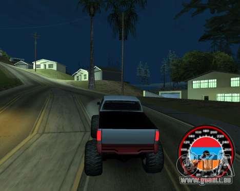 Der Tacho im Stil der Armenischen Flagge für GTA San Andreas