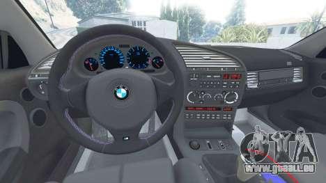 GTA 5 BMW M3 (E36) Street Custom [blue dials] v1.1 droite vue latérale
