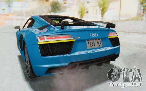 Audi R8 V10 2017 v2.0 für GTA San Andreas obere Ansicht