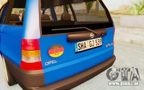 Opel Astra F Kombi 1997 pour GTA San Andreas vue de côté