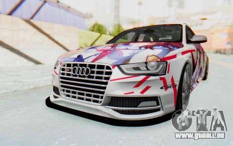 Audi S4 Avant Yurippe Angel Beats Itasha pour GTA San Andreas sur la vue arrière gauche