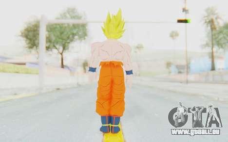 Dragon Ball Xenoverse Goku Shirtless SSJ für GTA San Andreas dritten Screenshot