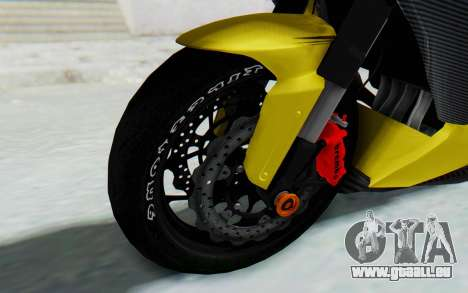 Kawasaki Ninja 250 Abs Streetrace v2 pour GTA San Andreas vue arrière