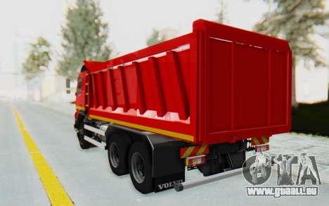 Volvo FMX 6x4 Dumper v1.0 für GTA San Andreas zurück linke Ansicht