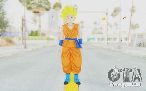 Dragon Ball Xenoverse Female Saiyan SSJ für GTA San Andreas zweiten Screenshot
