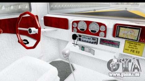 Unique V16 Fordor Taxi pour GTA San Andreas vue intérieure