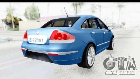 Fiat Linea 2014 Wheels pour GTA San Andreas laissé vue