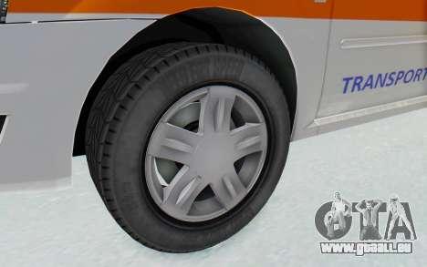 Dacia Logan Facelift Ambulanta pour GTA San Andreas vue arrière
