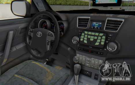 Toyota Fortuner 4WD 2015 Paraguay Police pour GTA San Andreas vue intérieure