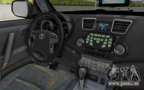 Toyota Fortuner 4WD 2015 Paraguay Police für GTA San Andreas Innenansicht