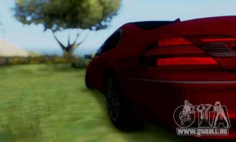 BMW 760i pour GTA San Andreas sur la vue arrière gauche