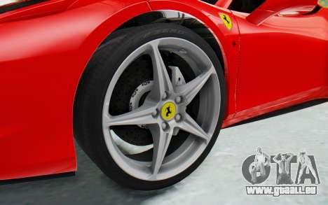 Ferrari 458 Italia F142 2010 pour GTA San Andreas vue arrière
