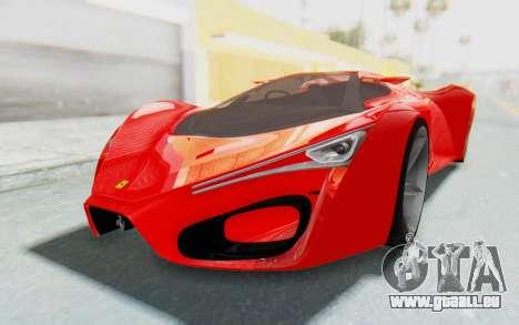 Ferrari F80 Concept 2015 Beta pour GTA San Andreas sur la vue arrière gauche