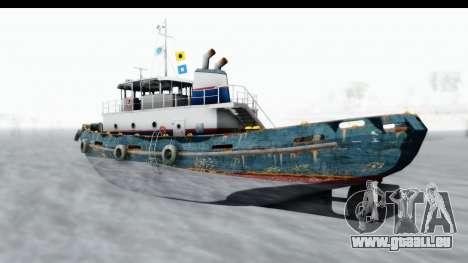 GTA 5 Buckingham Tug Boat v1 IVF für GTA San Andreas zurück linke Ansicht