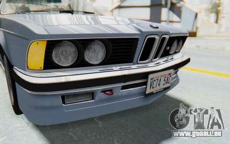 BMW M635 CSi (E24) 1984 IVF PJ1 pour GTA San Andreas vue de dessus