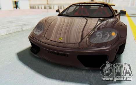 Ferrari 360 Modena Liberty Walk LB Perfomance v1 für GTA San Andreas Motor