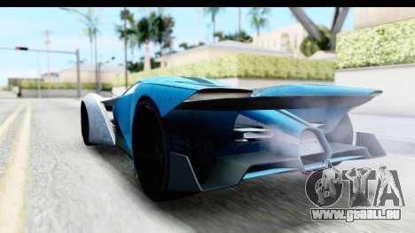 GTA 5 Grotti X80 Proto IVF pour GTA San Andreas sur la vue arrière gauche