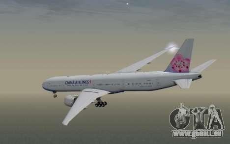 Boeing 777-300ER China Airlines für GTA San Andreas rechten Ansicht