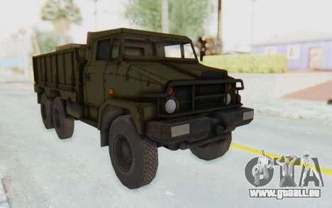 MGSV Phantom Pain BOAR 53CT Truck pour GTA San Andreas sur la vue arrière gauche