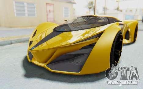 GTA 5 Grotti Prototipo v2 IVF pour GTA San Andreas sur la vue arrière gauche
