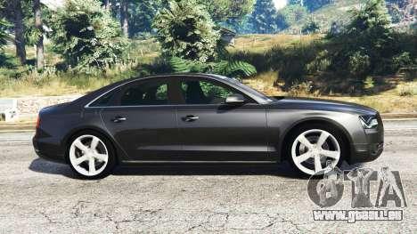 GTA 5 Audi A8 FSI 2010 linke Seitenansicht