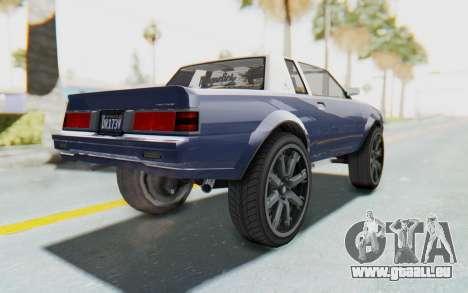 GTA 5 Willard Faction Custom Donk v1 für GTA San Andreas linke Ansicht