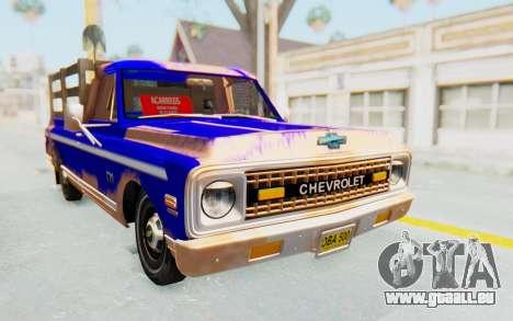 Chevrolet C10 1970 pour GTA San Andreas vue de droite